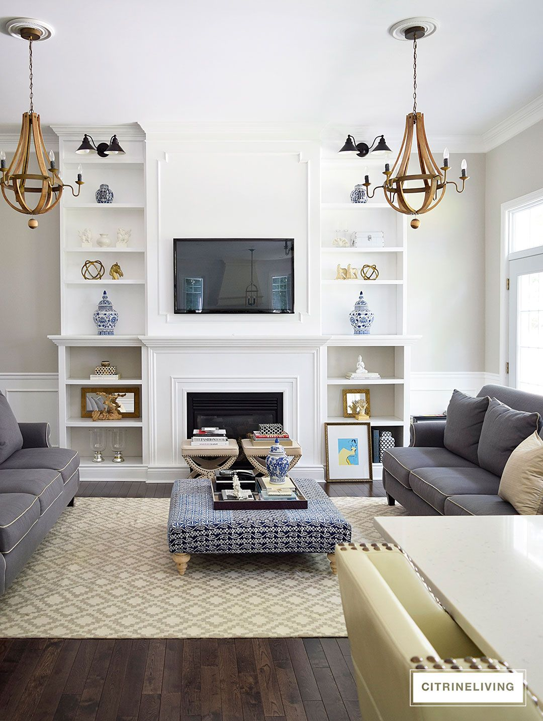 LIVING ROOM BOOKSHELVES | Living room bookshelves, Living rooms and ...