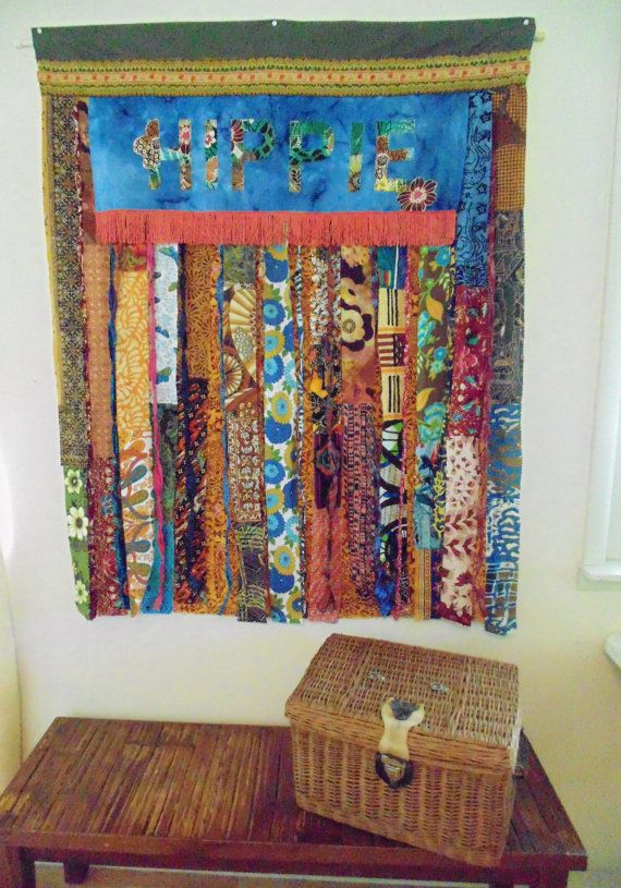 reserved for hippie boho window curtain fringe applique vintage fabric