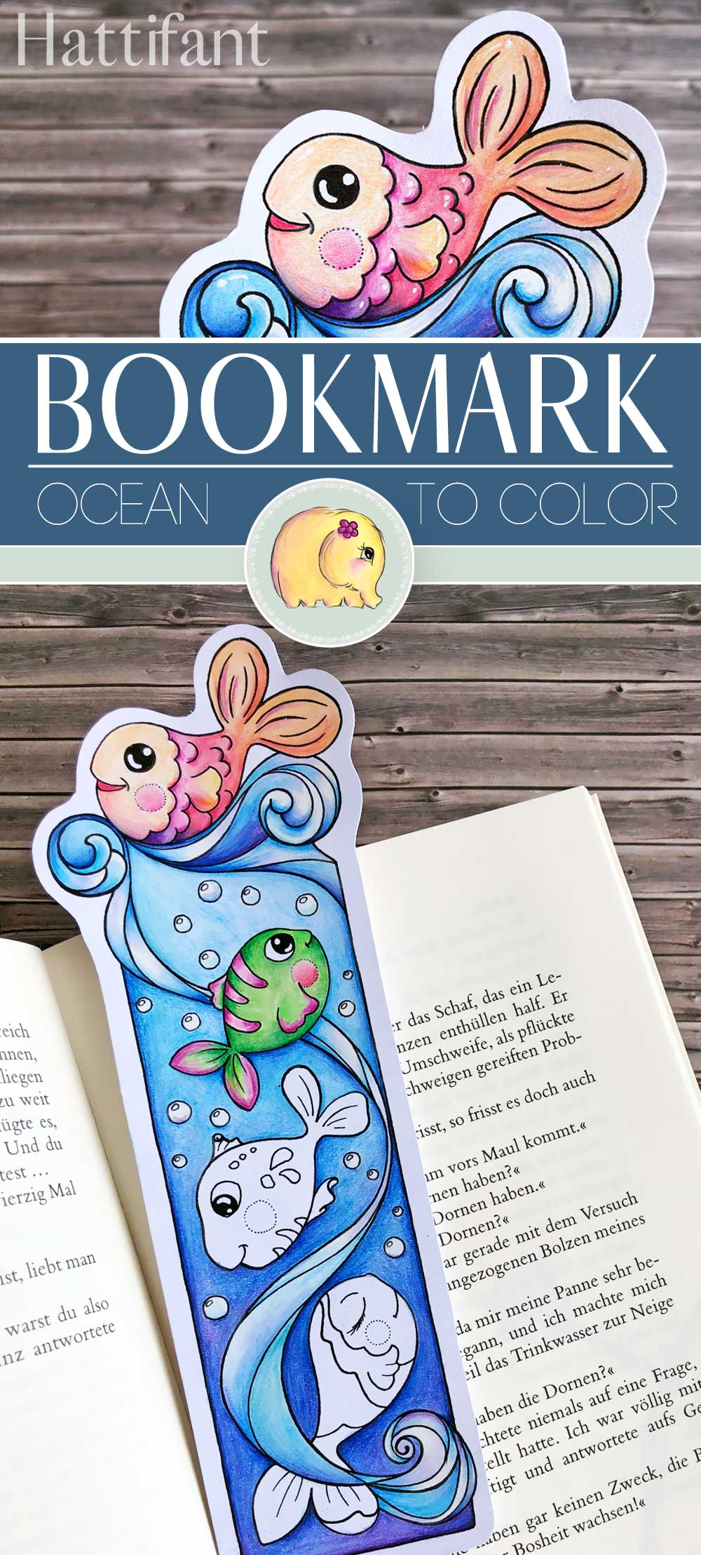 BOOKMARK   Ocean to Color - Hattifant   Coloring bookmarks ...