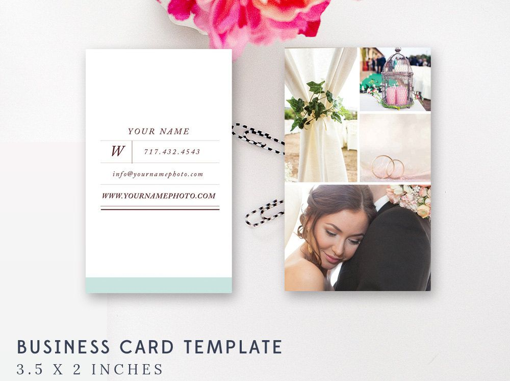 Premade Vertical Business Card Template - Photoshop Templates - PSD Template - INSTANT DOWNLOAD by ByStephanieDesign on Etsy