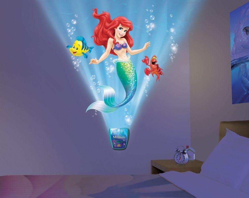 Kids mermaid bathroom decor - Disney Under The Sea Journey Little Mermaid Ariel Kids Bedroom Night Light Lite