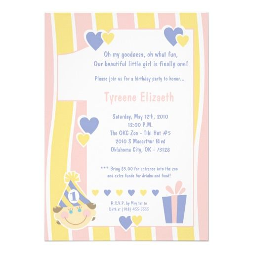 awesome One Year Old Birthday Party Invitations Birthday