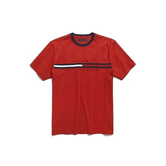 Essential Flag Logo T Shirt Tommy Hilfiger Red Tommy Hilfiger Shirt Tommy Hilfiger T Shirt Shirts