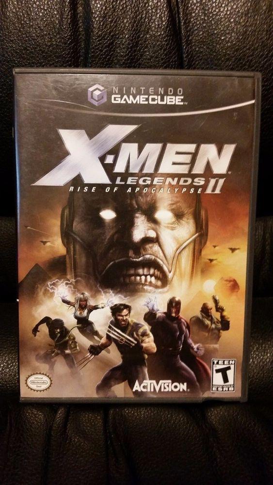 X Men Legends Ii Rise Of The Apocalypse Nintendo Gamecube 2005 Case No Manual Gamecube Apocalypse Nintendo