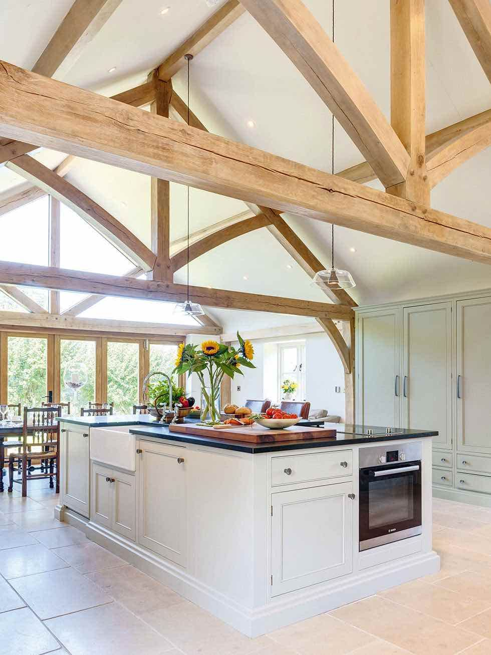 Welsh Oak Frame Kitchen Extension In 2019 Oak Framed