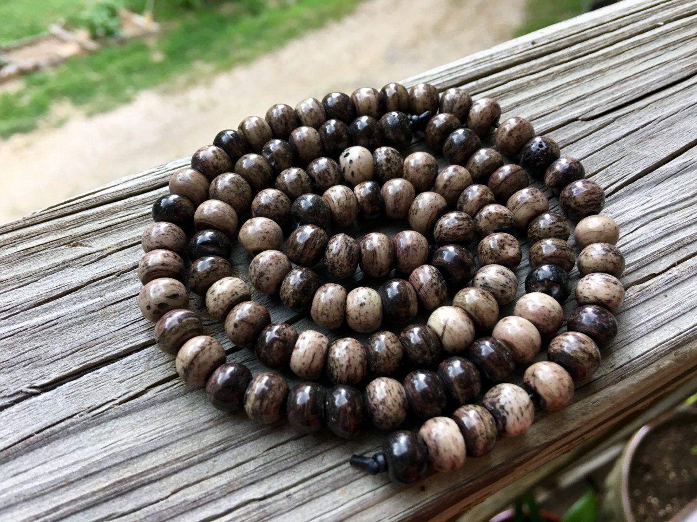 8mm Round Bone Beads, Handcrafted Chocolate Malts Light Dark Brown Grey Color…