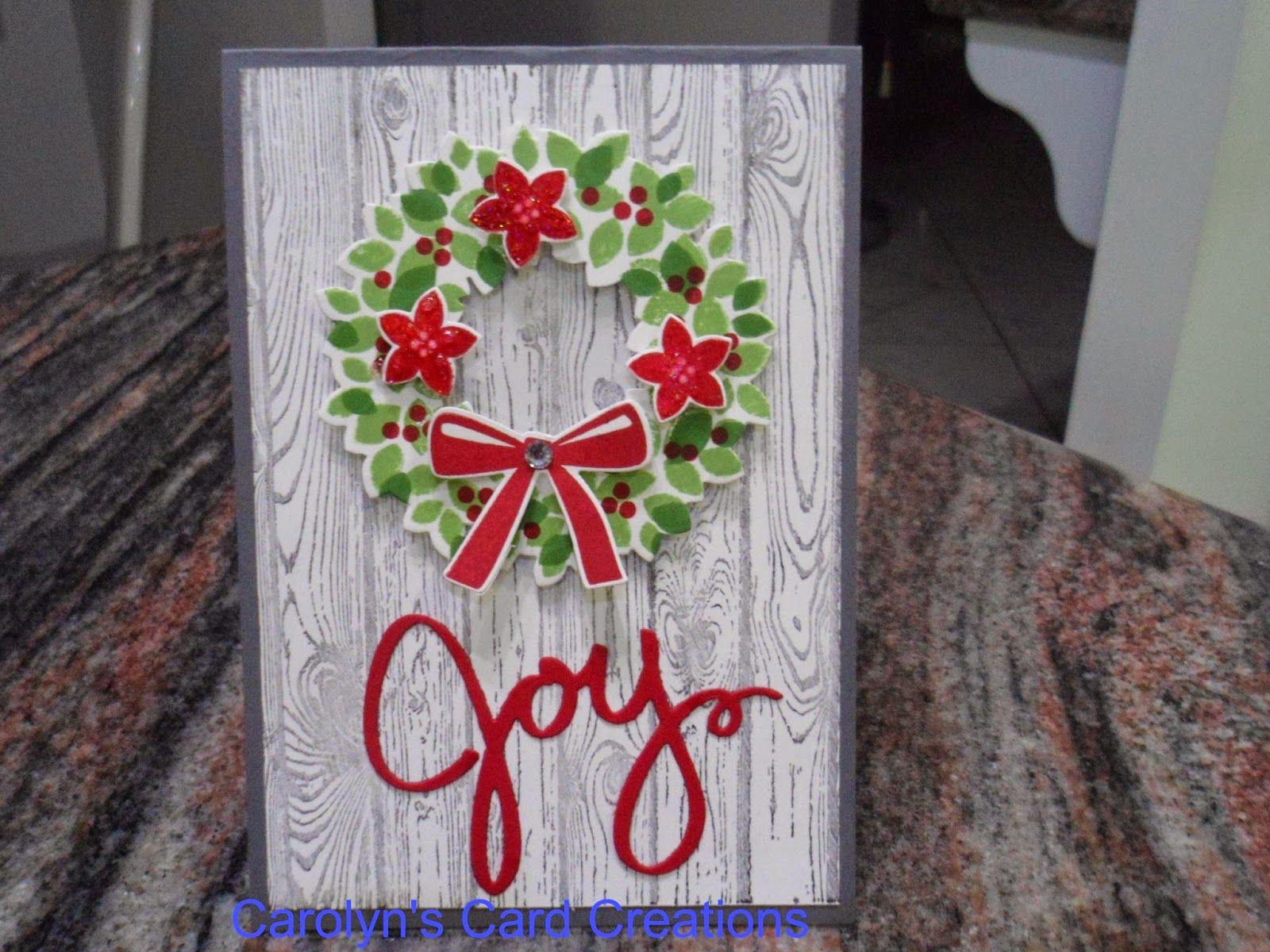 Carolyn's Card Creations: Wonderous Wreath Holiday Sneak Peek