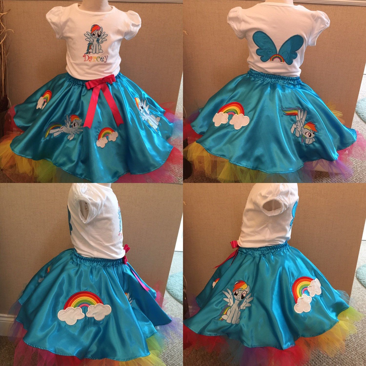 My Little Pony-Rainbow Dash Circle Skirt and Personalised Tee!