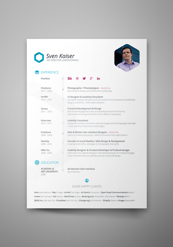 resume - Example Of Modern Resume