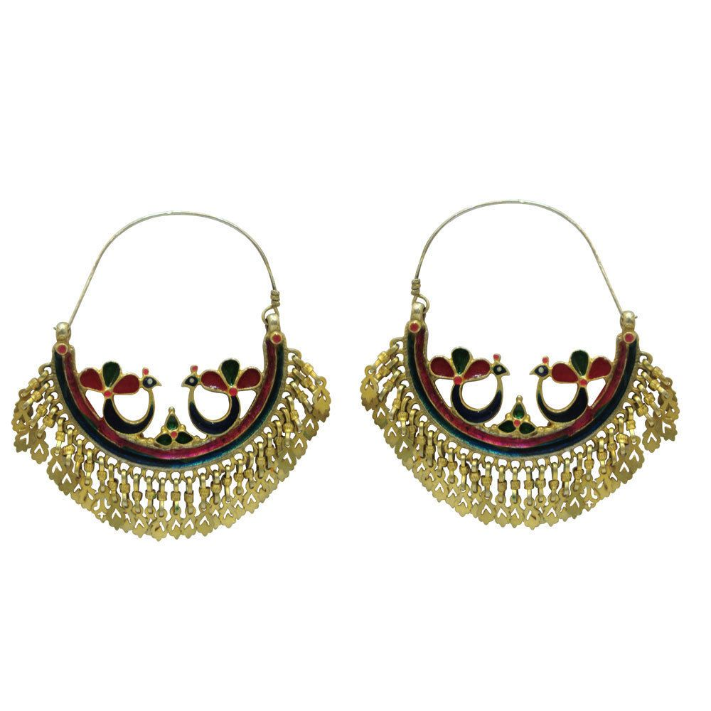 Certified Antique old Silver Gold polish Earring with tribal look Christmas gift #viditajewels