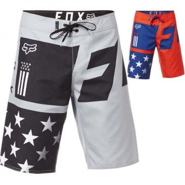 Red *Various Sizes Fox Racing Motion Creo Boardshorts Swim Trunks