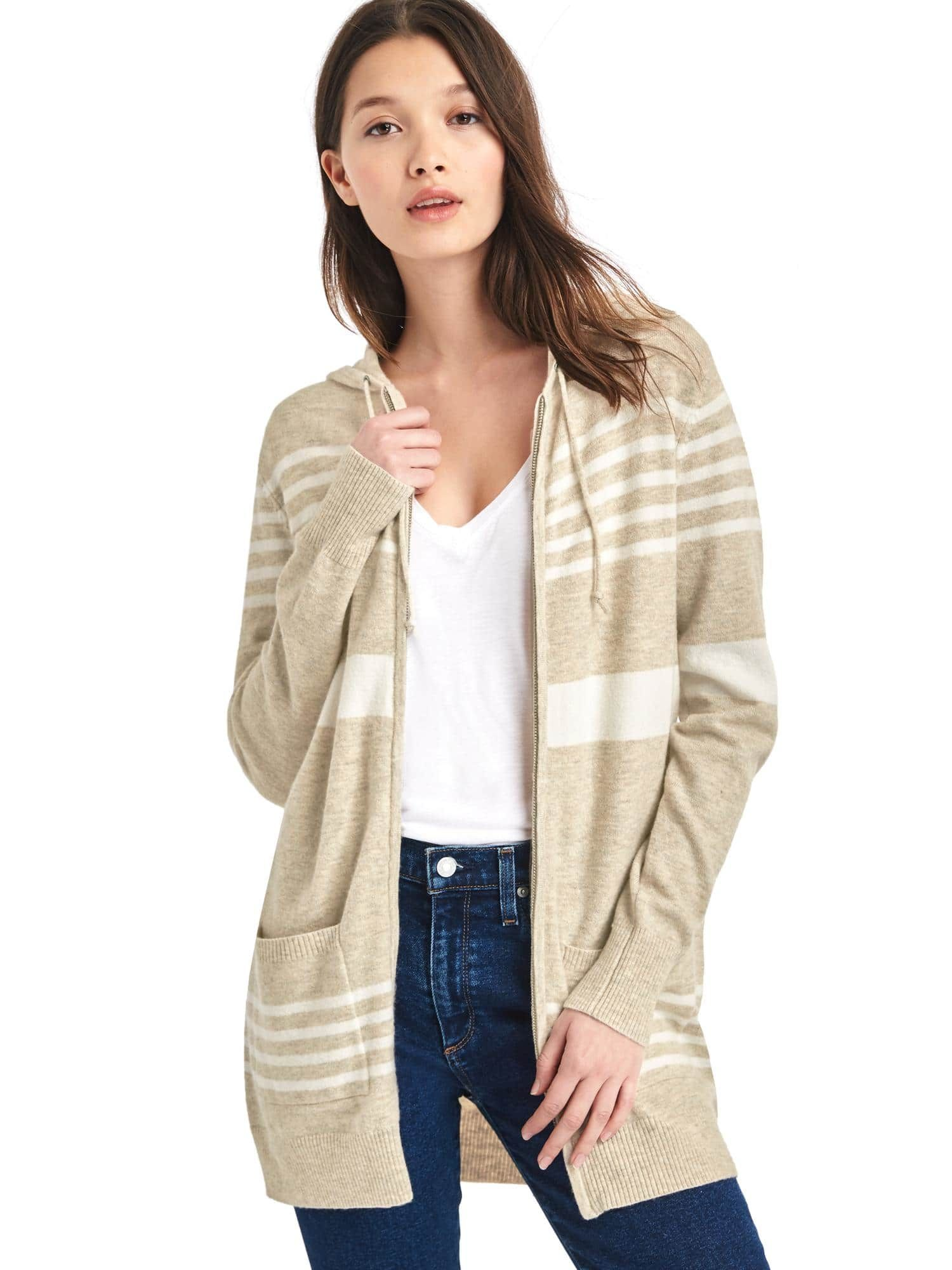 Stripe hooded cocoon sweater | Gap | clothes: winter | Pinterest ...