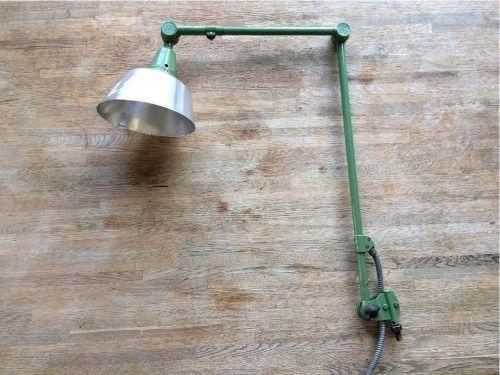grüne Midgard Lampe / Gelenkarmlampe Lampe / Vintage