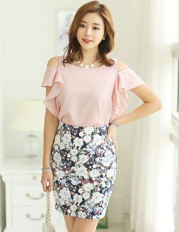 Chic Skirt From Styleonme Korean Fashion Women Fashion Feminine Look Classy Look Office