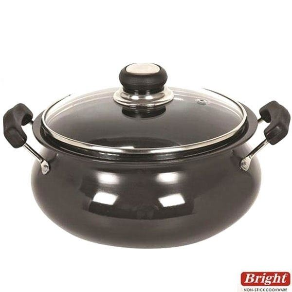 Bright Cookware Buy Bright Hard Anodized Handi With Glass Lid 3 75 Ltr Online Online Kitchen Store Cooking Kitchen Pots And Pans