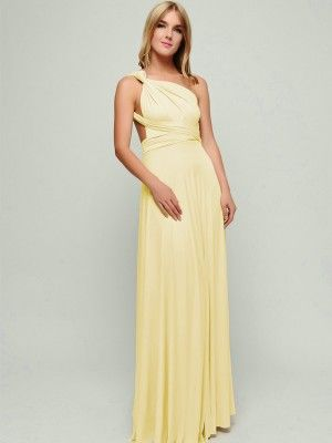 Light Yellow Convertible Dresses
