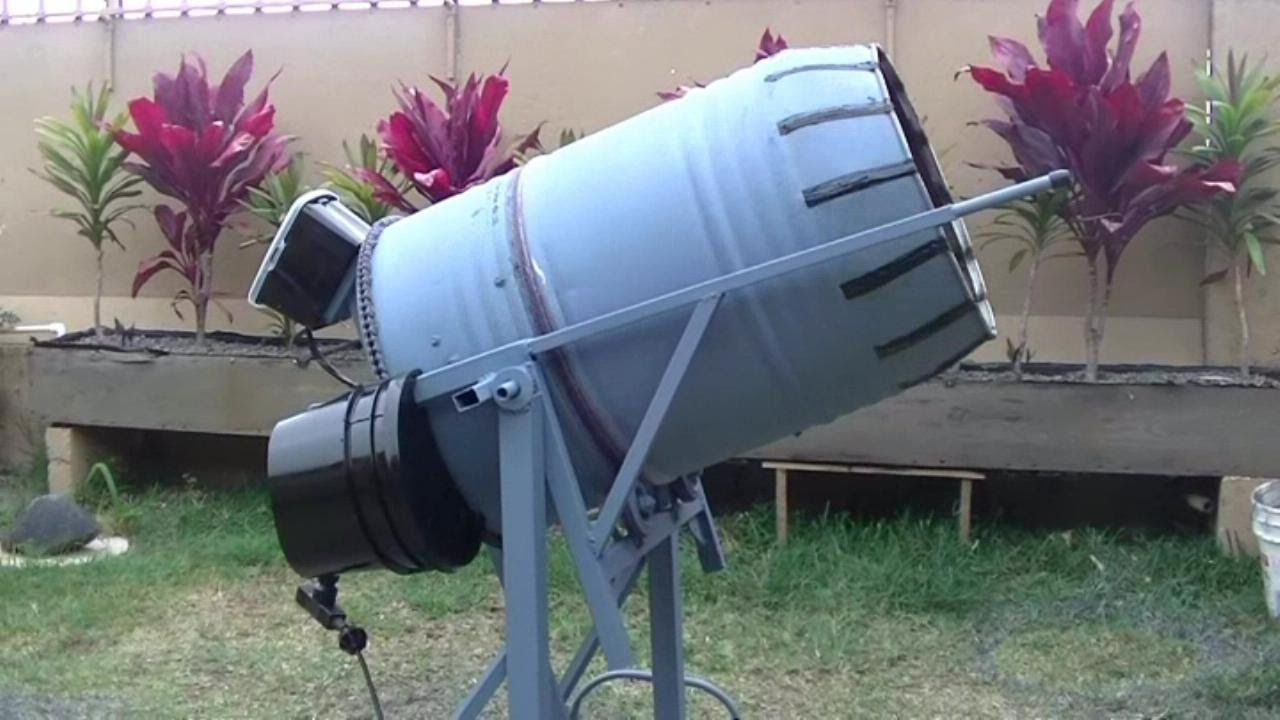 How To Build A 55 Gal Concrete Mixer Cement Mixers Concrete Mixers Concrete Tools