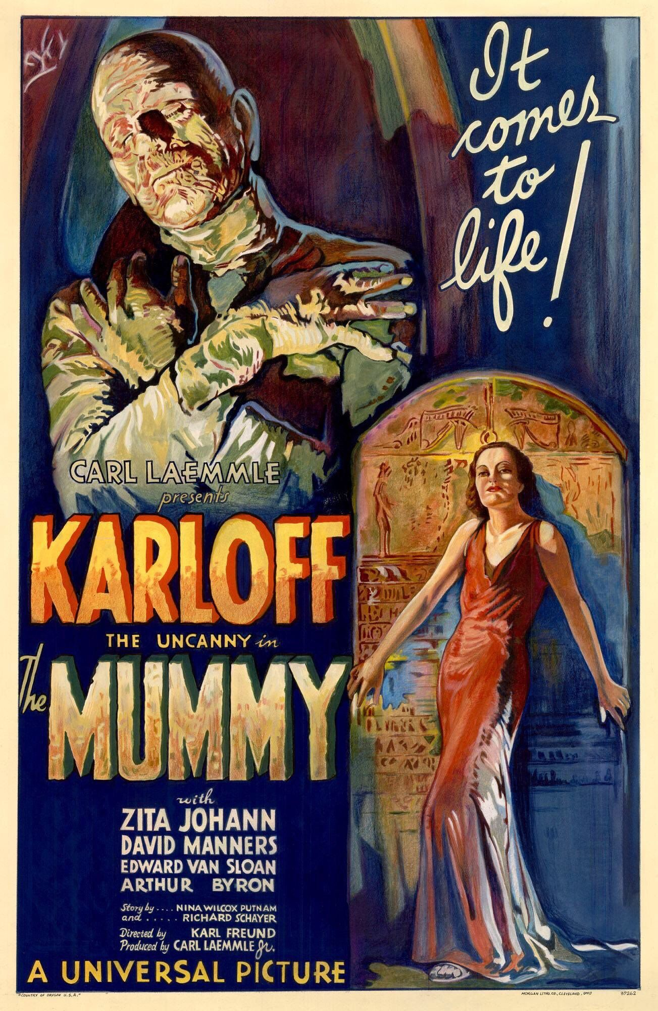 BORIS KARLOFF IN THE MUMMY METAL WALL SIGN  VINTAGE STYLE SMALL MOVIE HORROR