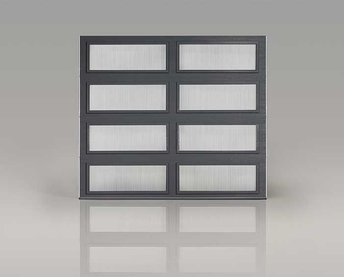 Clopay Modern Steel Collection Garage Door With Full View