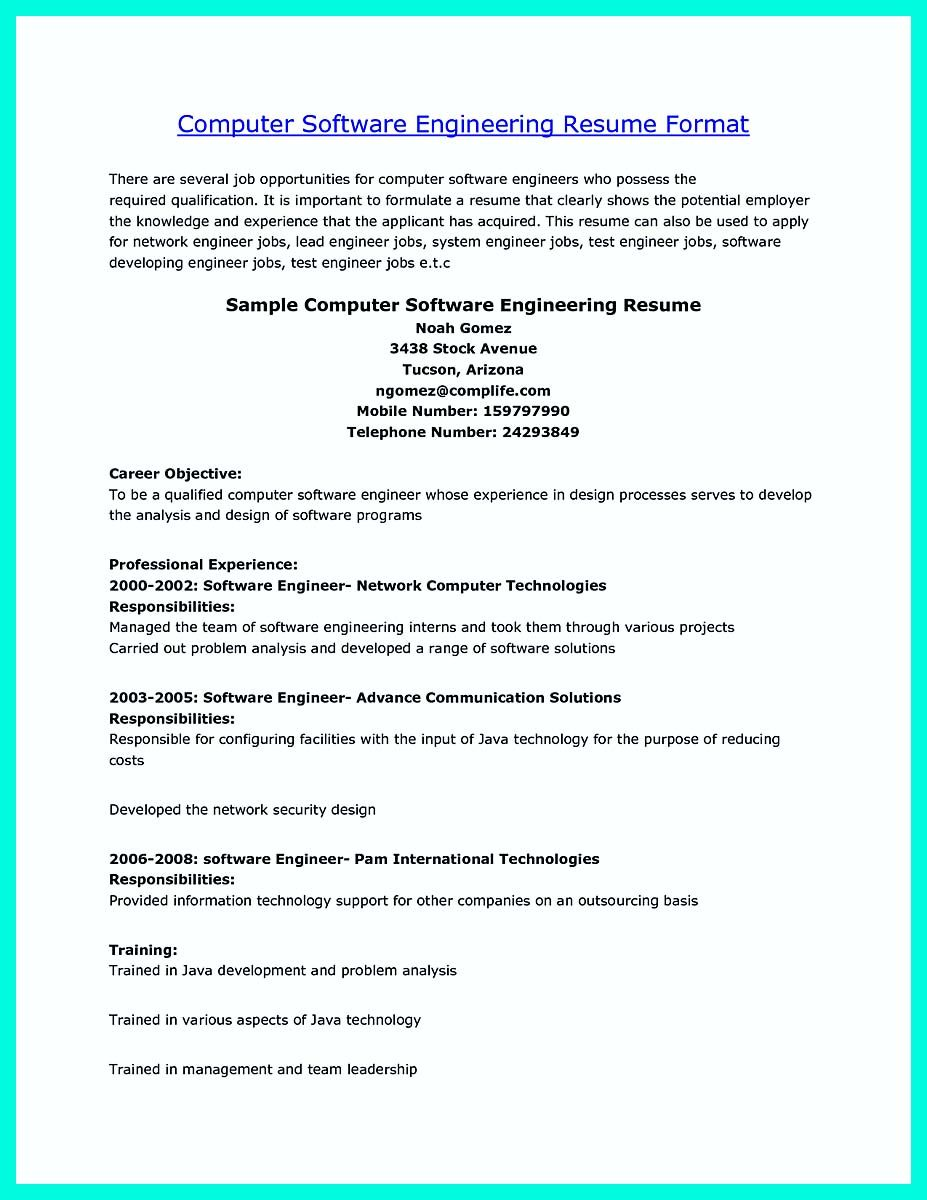 Software Engineering Resume Nice The Perfect Computer Engineering Resume Sample To Get Job