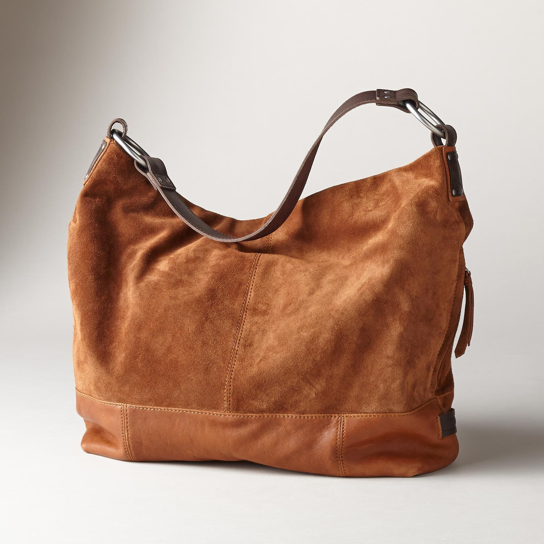 Sa Handbag Italian Suede And Glazed Leather Make Perfect Traveling Companions In This Elegant Bag Zip Closure One Outer Pocket Four Inner