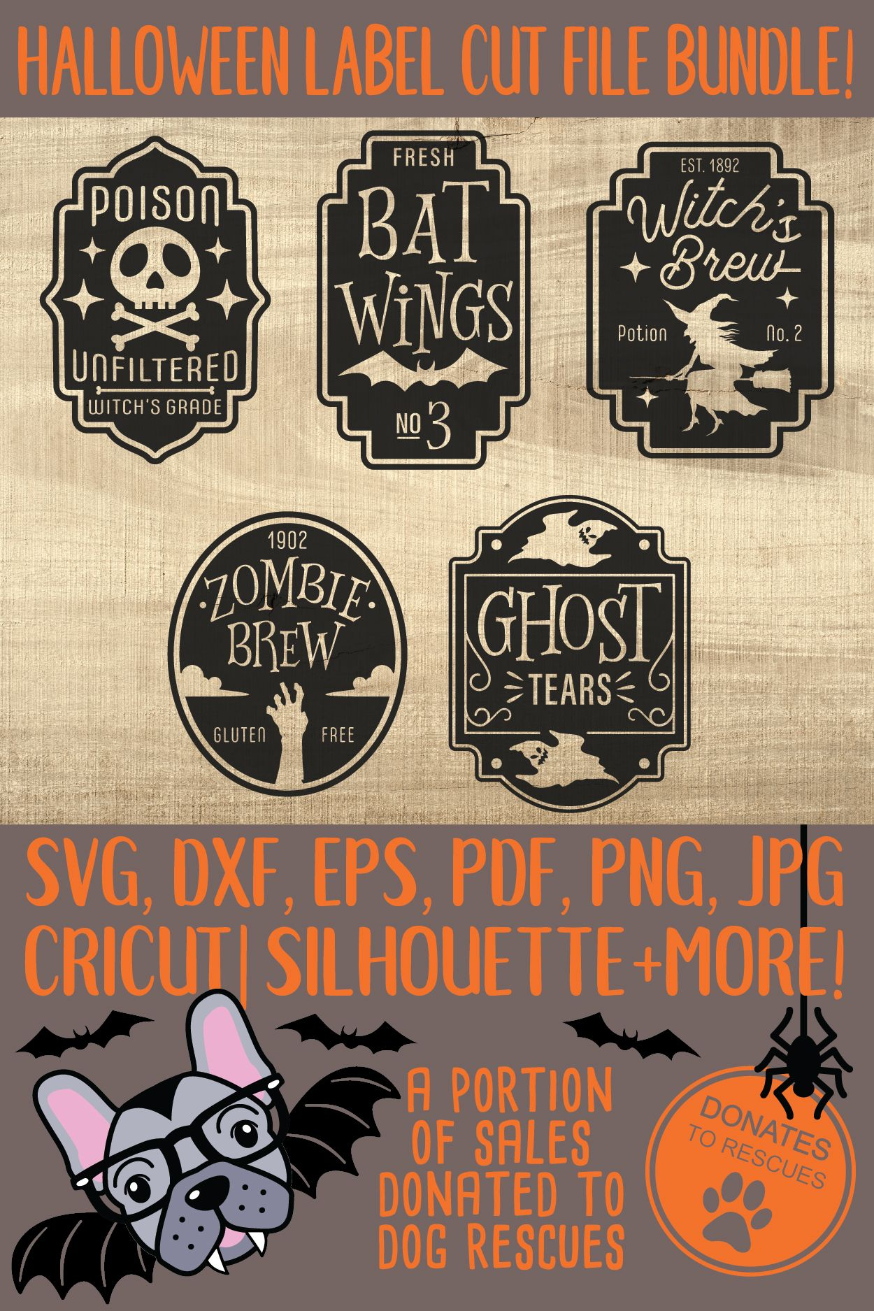 Download Halloween Black Cat Ghost Pumpkin Witch Hat Witch Broom Design: Svg & Silhouette Studio 3 Cut Files Using Cameo, Cricut For Vinyl, Htv, Sign Design