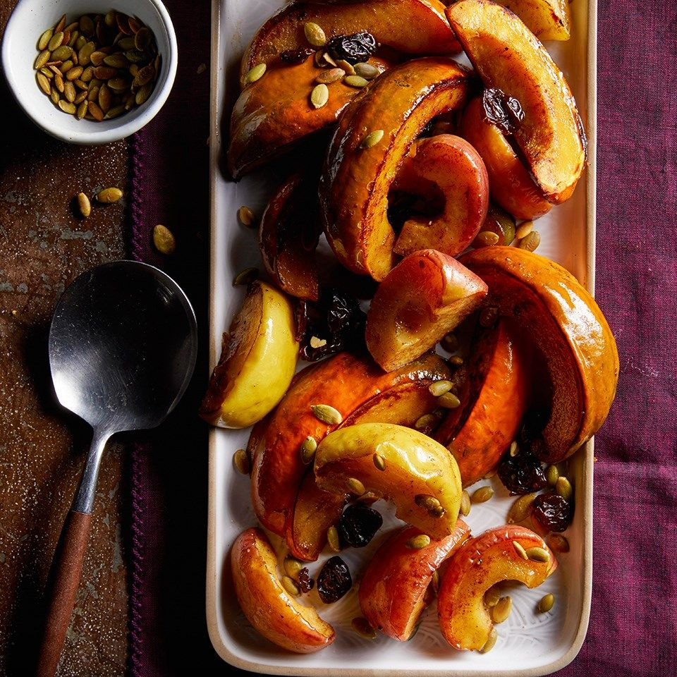 Roasted Squash Apples With Dried Cherries Pepitas Recipe
