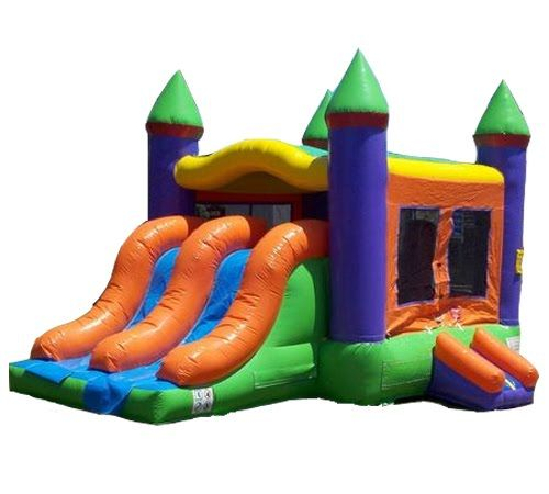 Cool Rainbow Castle Slide Combo Is Great For Any Kids Party Theme Download Free Architecture Designs Scobabritishbridgeorg