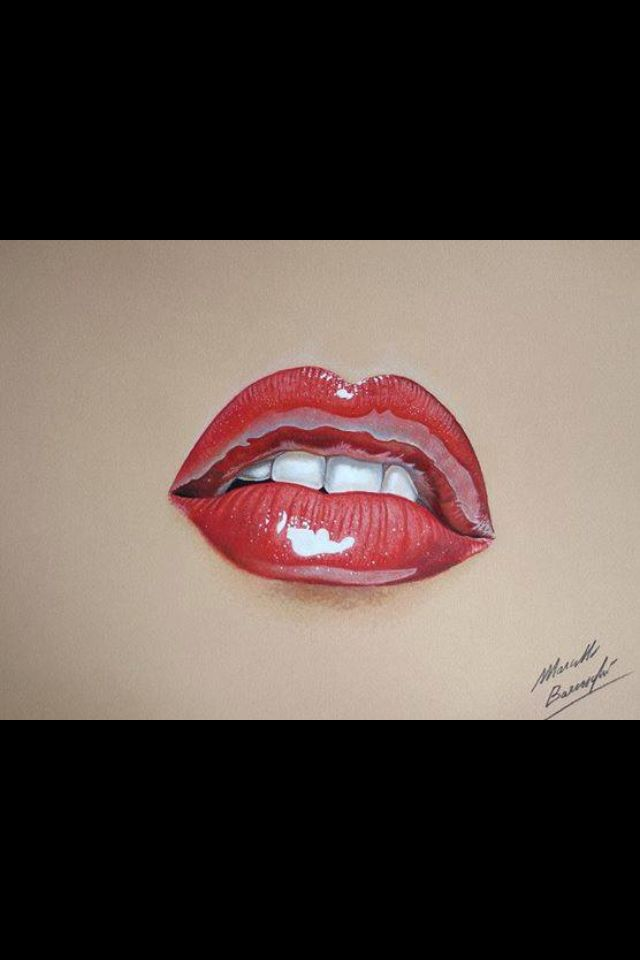 3 D Pencil Drawing Realistic Drawings Lips Drawing Color