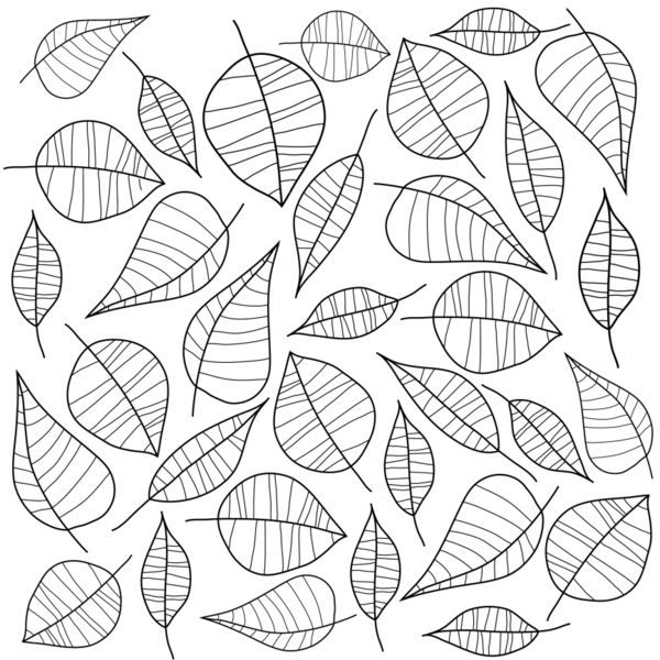 Seamless Pattern With Branches And Leaves Royalty Free