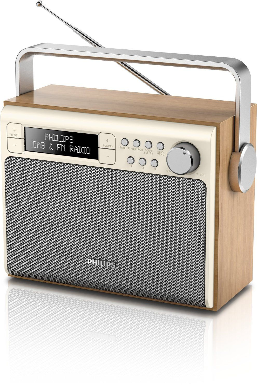 philips ae5020 12 radio 3 w pantalla lcd dab. Black Bedroom Furniture Sets. Home Design Ideas