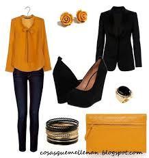 5e4678f3dc como combinar una camisa amarilla mujer - Buscar con Google Blusa Color  Mostaza