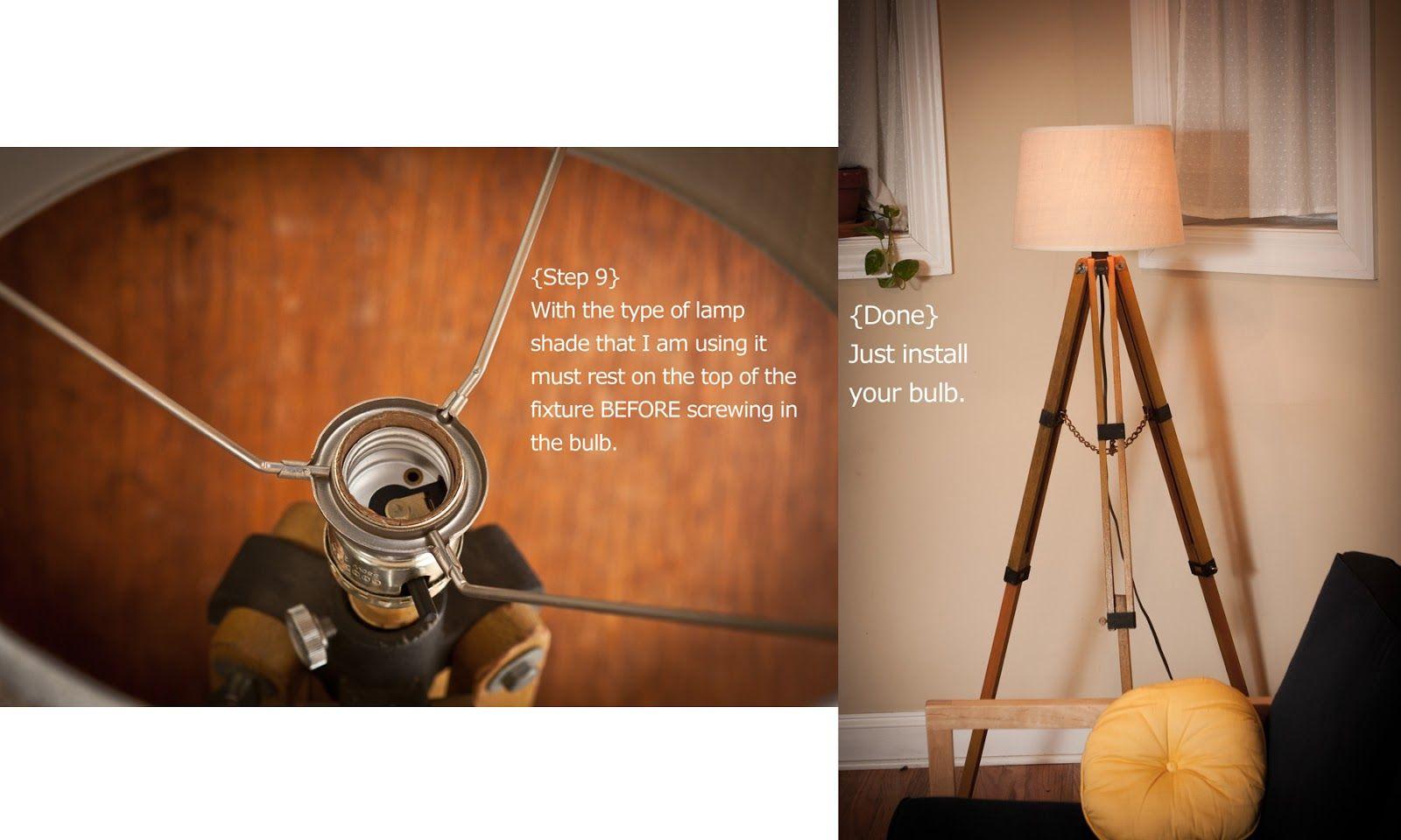 tulle: DIY // Tripod Lamp