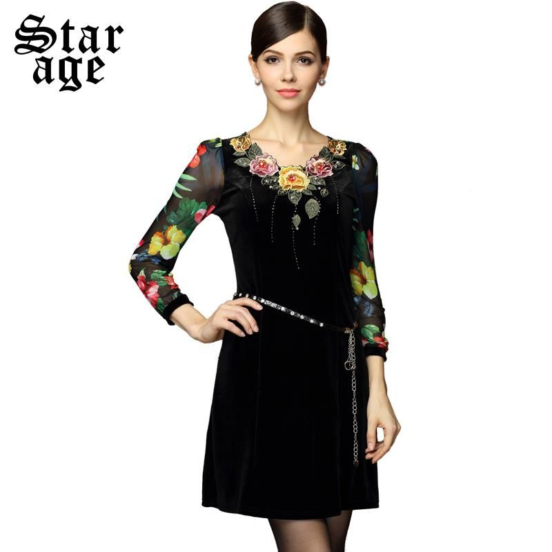 L-4XL Brand Colorful Floral Print Lace Patchwork Long Sleeve Straight Dresses 2015 Autumn Winter Plus Size Women Clothing 8318 - http://www.aliexpress.com/item/L-4XL-Brand-Colorful-Floral-Print-Lace-Patchwork-Long-Sleeve-Straight-Dresses-2015-Autumn-Winter-Plus-Size-Women-Clothing-8318/2025963888.html