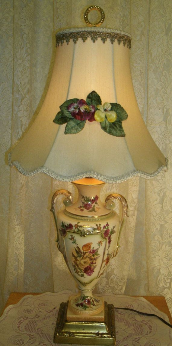Your Place To Buy And Sell All Things Handmade Lamp Table Lamp Floral Spray