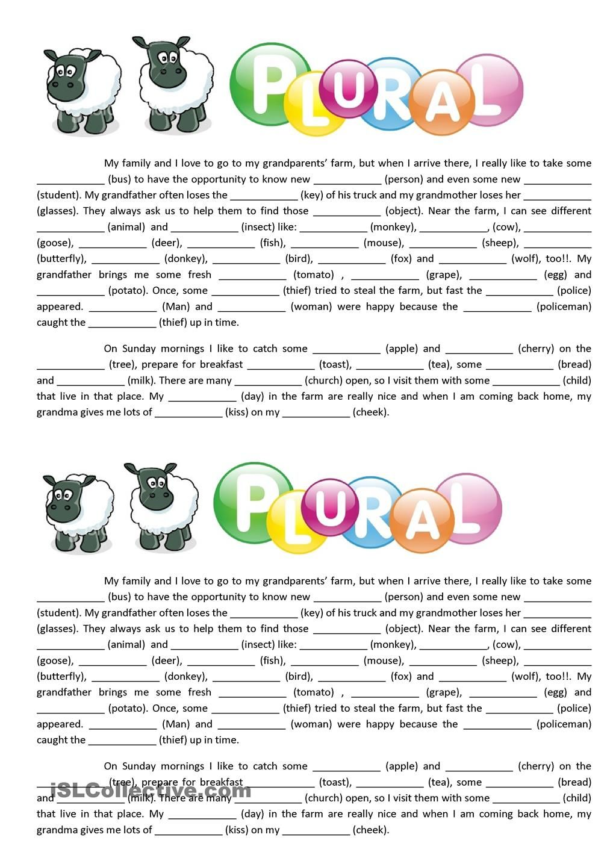 Text - Plural of nouns | ingles | Pinterest | Grammatikunterricht ...