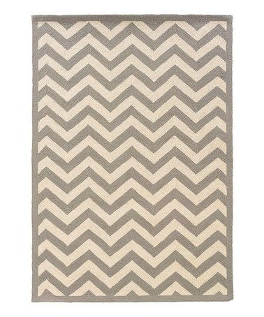 Take A Look At This Gray Silhouette Chevron By Linon Home