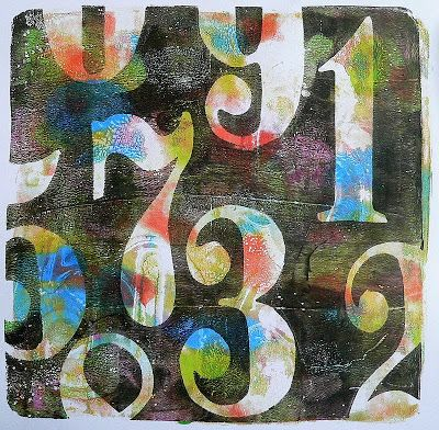 Von Pappe II - trying to learn to love the Gelli plate... It seems to go against everything she learned in art school!!!