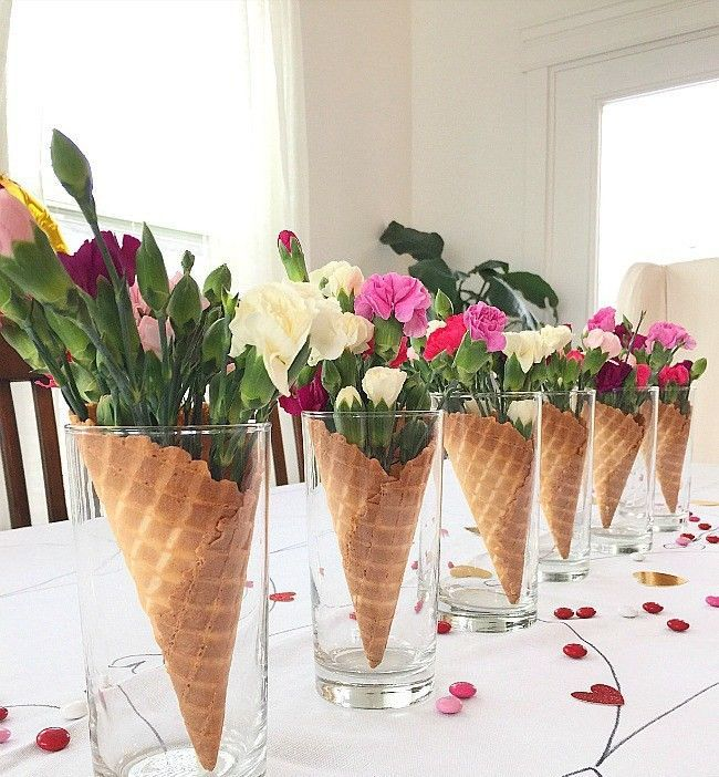 center piece for an ice cream party | Ice Cream Birthday Party #icecreambirthdayparty