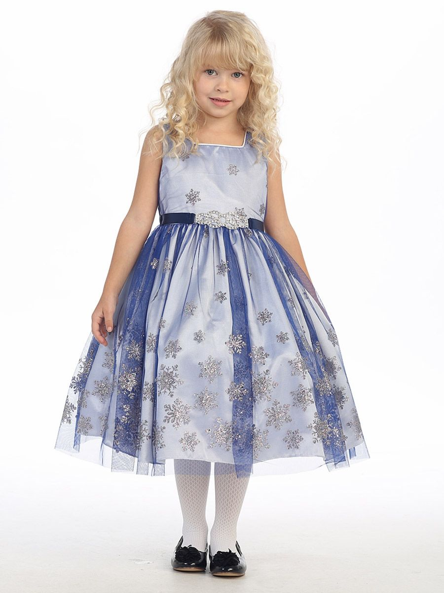 Royal Blue Snowflake Holiday Dress   Christmas & Holiday Dresses ...