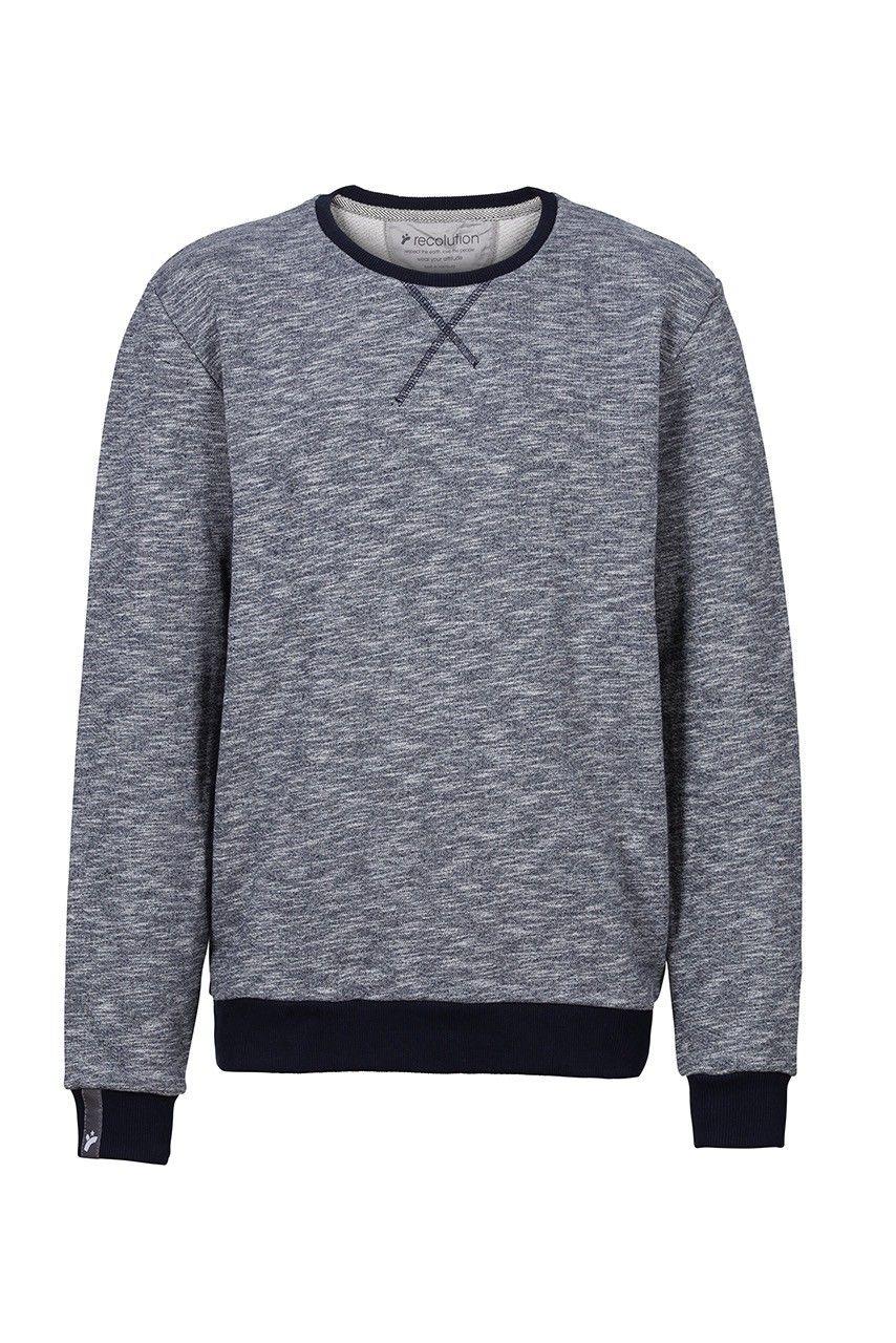 recolution organic fair trade Sweater Knut Männer grau heavy Pullover 9e4614139b