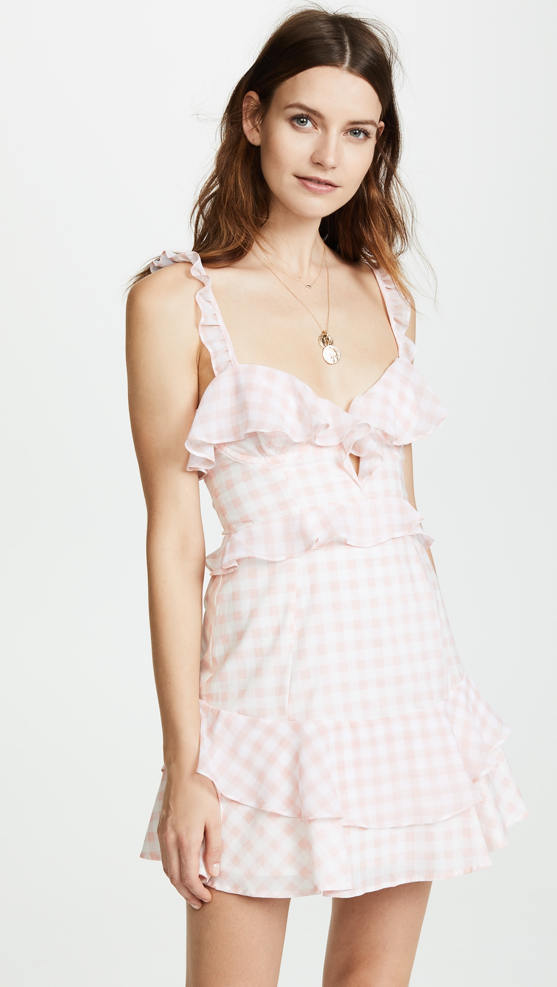 a01da61e2c1d Dixie Ruffled Mini Dress | Products | Pink mini dresses, Dresses ...