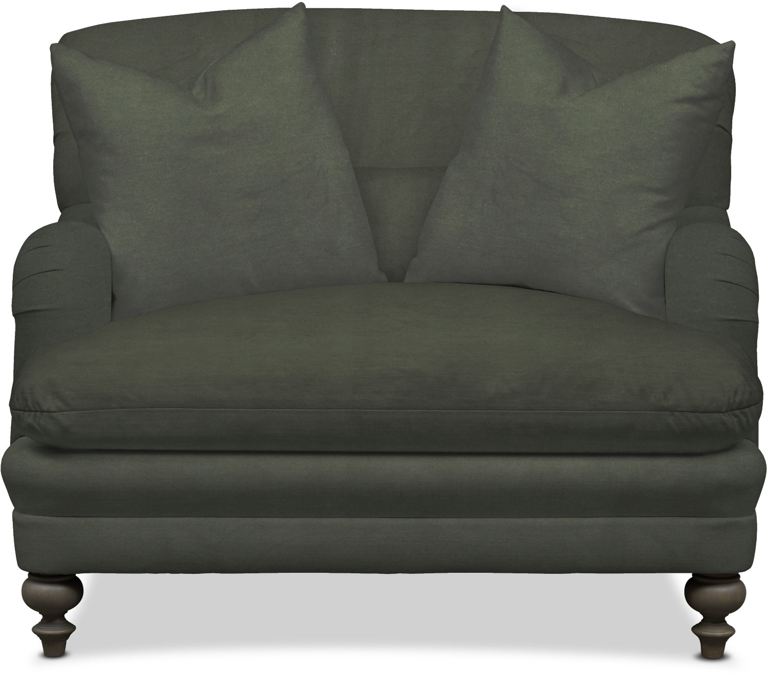 Overstuffed Leather Chair And Ottoman