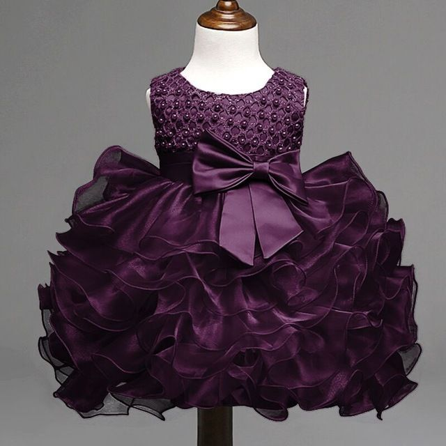 Daily Price 998 Buy 2017 Summer Newborn Formal Dress Purple