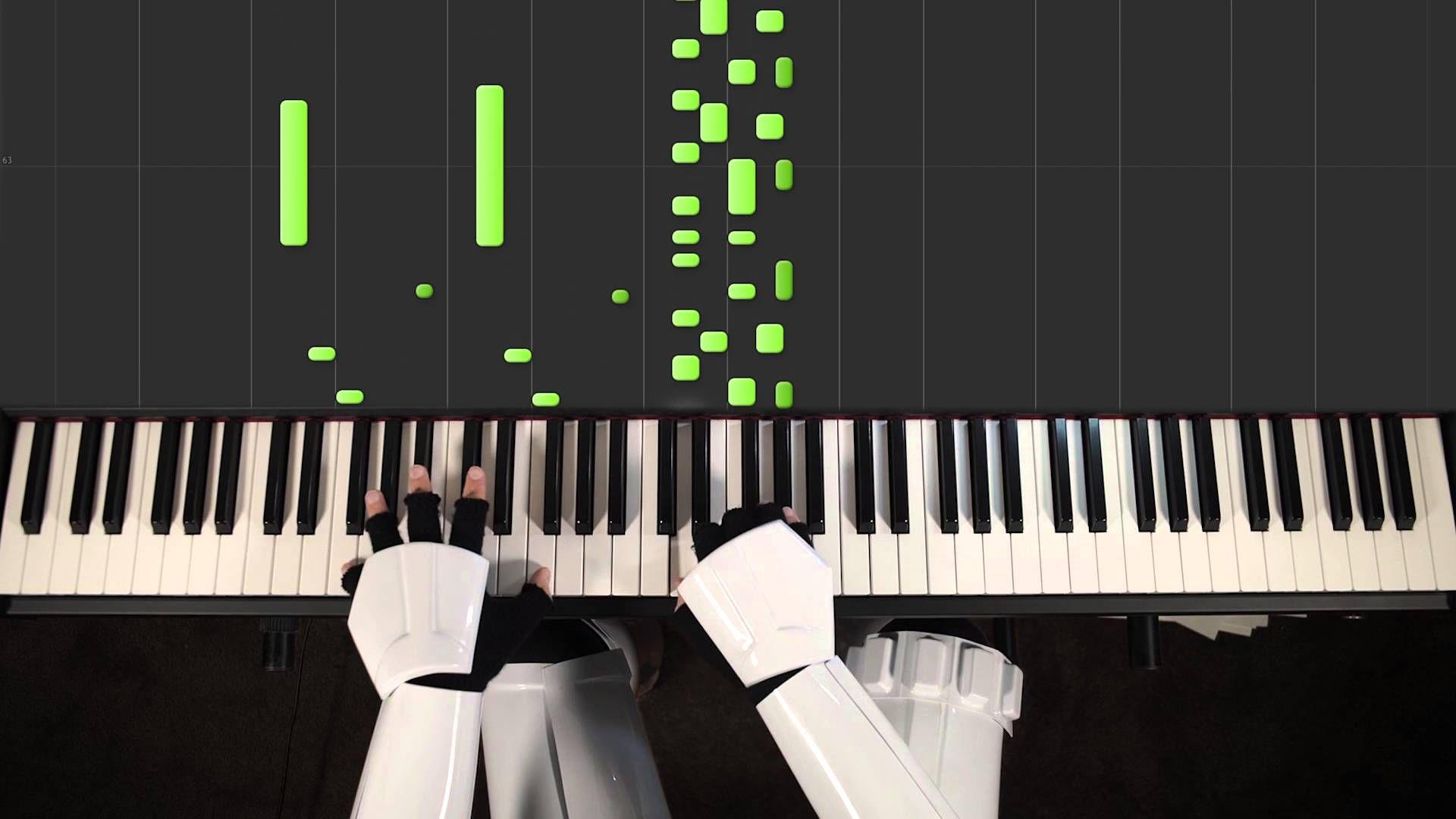 Cantina Band Star Wars Piano Cover Hard Sheets With