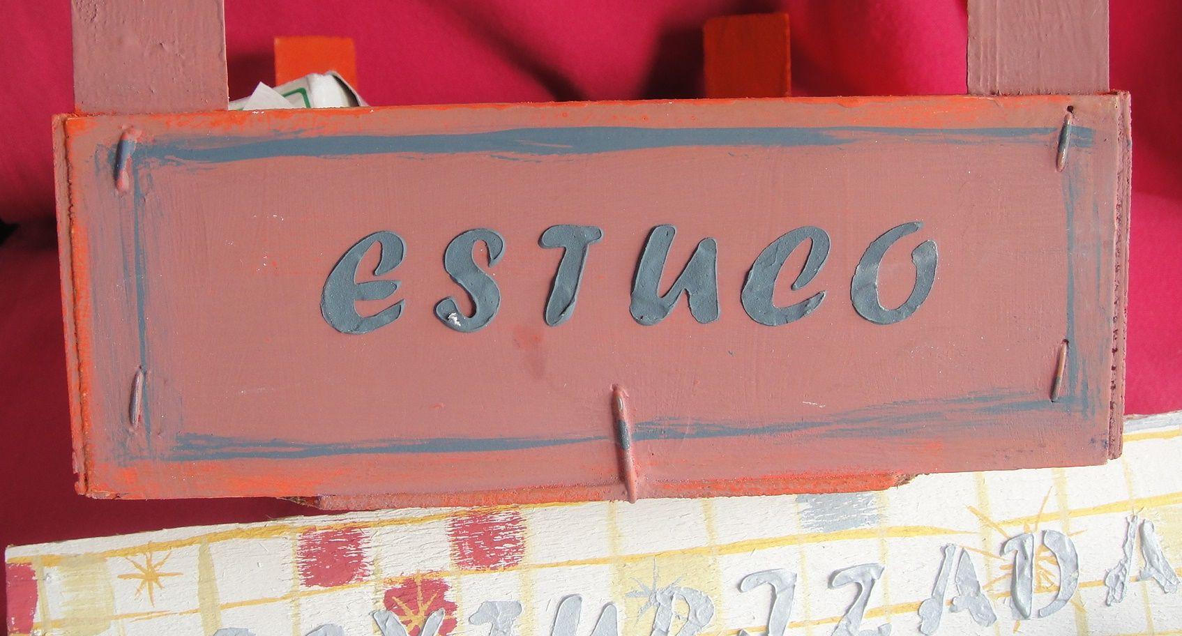 Pasta estuco + Chalk Paint para crear tus carteles o etiquetas, con ...