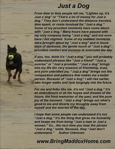 JUST A DOG POEM - Google Search | sayings | Pinterest | A dog ...