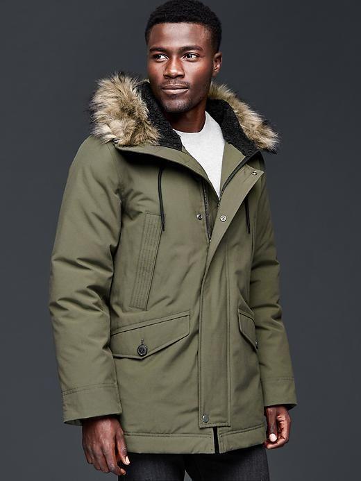PrimaLoft® faux fur-trim parka | Gap | Outerwear - Heavyweight ...