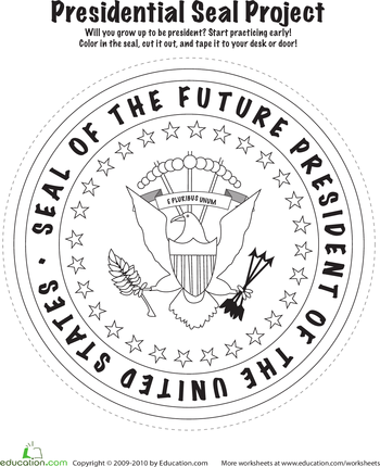 Learning About America Presidential Seal Kids Politics Education Com