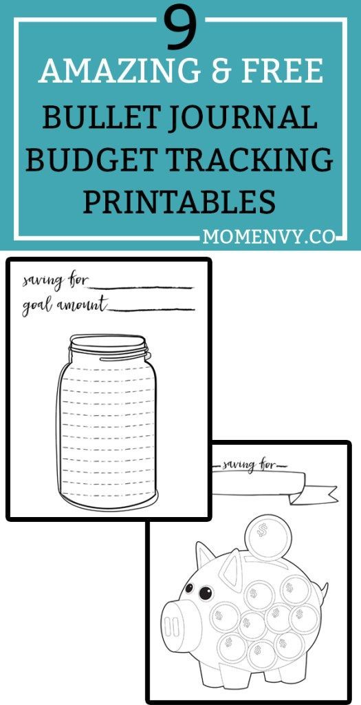 Free Budget Planner Printables - 9 Free Bullet Journal Style ...